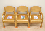 Photo: Three children's chairs lined up